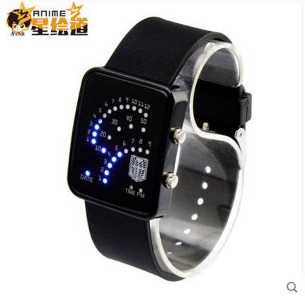 นาฬิกาข้อมือ LED Attack On Titan(สีดำ)