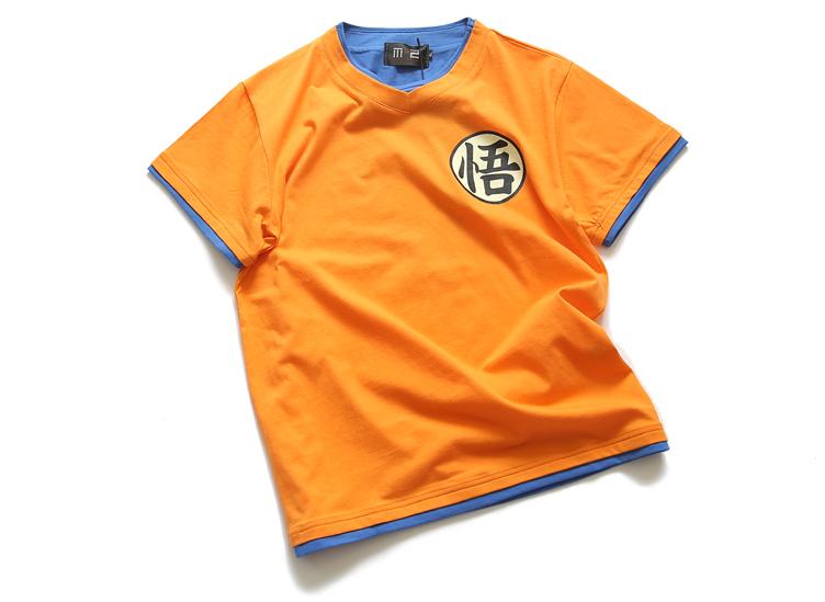 เสื้อยืดดราก้อนบอล Dragon Ball (สีส้ม)