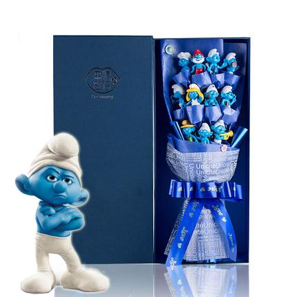 ช่อดอกไม้โมเดลการ์ตูน The Smurfs เดอะ สเมิร์ฟส์ (11 ตัว)