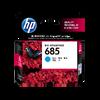 HP 685 ตลับหมึกอิงค์เจ็ท สีฟ้า Cyan Original Ink Advantage Cartridge (CZ122AA)