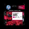 HP 685 ตลับหมึกอิงค์เจ็ท สีม่วงแดง Magenta Original Ink Advantage Cartridge (CZ123AA)