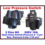 "Low Pressure Switch (สวิทช์ความดัน 2 ขา) ข้อต่อเกลียวหมุน 1/4"" (2 หุน)"