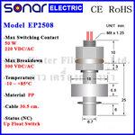 ลูกลอยไฟฟ้าเล็ก สวิทช์ลูกลอย Vertical PP Float Switch (NC) EP2508