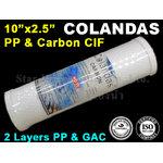 """ไส้กรอง 2 ชั้น CIF 10"""" x 2.5"""" Colandas"""