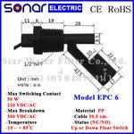 ลูกลอยไฟฟ้าเล็ก สวิทช์ลูกลอย Horizontal PP Float Switch (NC/NO) EPC6