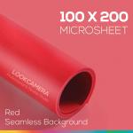 Red Microsheet 100x200 cm ไมโครชีทสีแดง