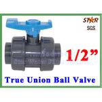 """ยูเนี่ยนบอลวาล์ว พีวีซี PVC True union ball valve 1/2"""" (ID:22 mm) (Star)"""