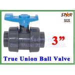 """ยูเนี่ยนบอลวาล์ว พีวีซี PVC true union ball valve 3"""" (ID:89 mm) (Star)"""