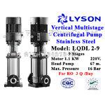 ปั๊ม Stainless Vertical Multistage แรงดันสูง 1.5 HP 9 ใบพัด 220V. Lyson
