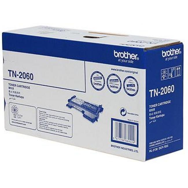 Brother TN-2060 ตลับหมึกโทนเนอร์ สีดำ Black Original LaserJet Toner Cartridge