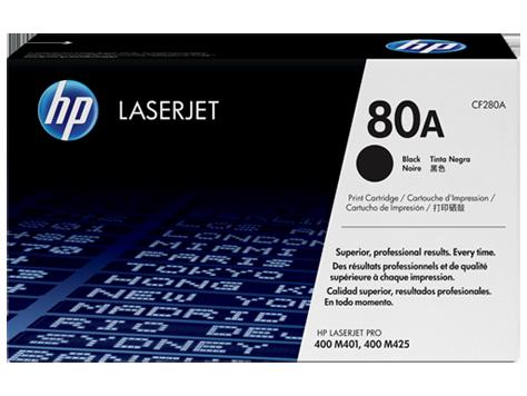 HP 80A ตลับหมึกโทนเนอร์ สีดำ Black Original Toner Cartridge (CF280A)