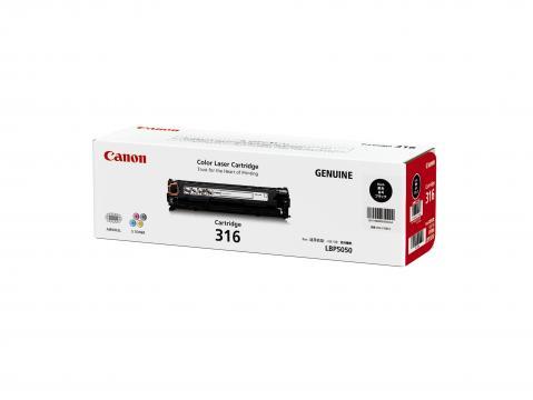 Canon Cartridge-316BK ตลับหมึกโทนเนอร์ สีดำ Black Toner Original Cartridge