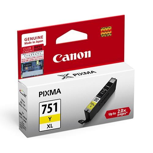 Canon CLI-751XLY ตลับหมึกอิงค์เจ็ท สีเหลือง Yellow Original Ink (High Capacity)