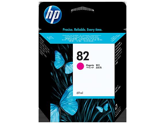 HP 82 69-ml ตลับหมึกอิงค์เจ็ท สีม่วงแดง Magenta DesignJet Original Ink Cartridge (C4912A)