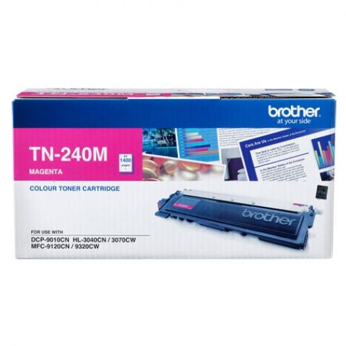 Brother TN-240M ตลับหมึกโทนเนอร์ สีม่วงแดง Magenta Original LaserJet Toner Cartridge