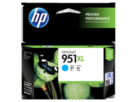 HP 951XL ตลับหมึกอิงค์เจ็ท สีฟ้า High Yield Cyan Original Ink Cartridge (CN046AA)