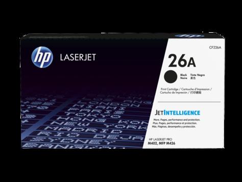 HP 26A ตลับหมึกโทนเนอร์ สีดำ Black Original LaserJet Toner Cartridge (CF226A)