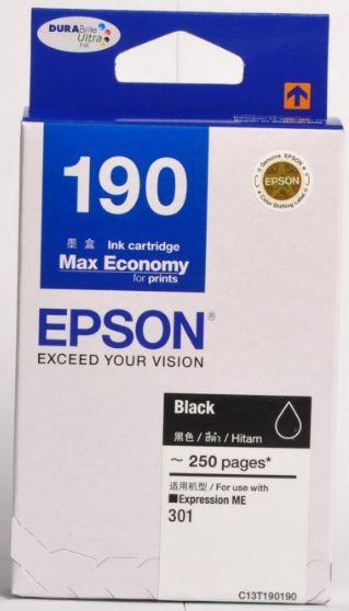 Epson T190190 หมึกพิมพ์อิงค์เจ็ต สีดำ Black Original Ink Cartridge