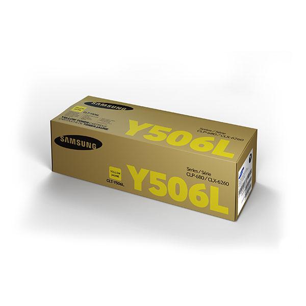 Samsung CLT-Y506L ตลับหมึกโทนเนอร์ สีเหลือง ของแท้ Yellow Original Toner Cartridge (SU517A)