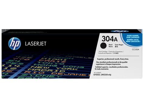 HP 304A ตลับหมึกโทนเนอร์ สีดำ Black Original Toner Cartridge (CC530A)