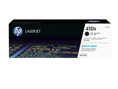 HP 410X ตลับหมึกโทนเนอร์ สีดำ High Yield Black Original Toner Cartridge (CF410X)
