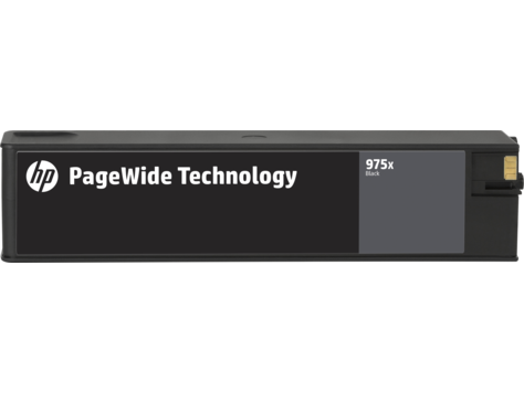 HP 975X ตลับหมึกพิมพ์เพจวายด์ สีดำ High Yield Black Original PageWide Cartridge (L0S09AA)