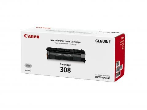 Canon Cartridge-308 ตลับหมึกโทนเนอร์ สีดำ Black Toner Original Cartridge