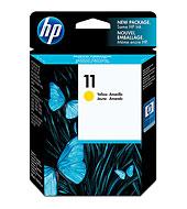 HP 11 ตลับหมึกอิงค์เจ็ท สีเหลือง ของแท้ Yellow Original Ink Cartridge (C4838A)