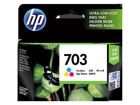 HP 703 ตลับหมึกอิงค์เจ็ท 3สี Tri-color Original Ink Advantage Cartridge (CD888AA)