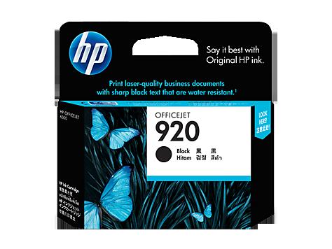 HP 920 ตลับหมึกอิงค์เจ็ท สีดำ Black Original Ink Cartridge (CD971AA)