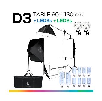 D3 TABLE 60x130 โต๊ะถ่ายภาพสินค้าปรับองศาได้ ถอดประกอบได้