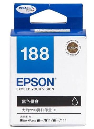 Epson T188190 (188) หมึกพิมพ์อิงค์เจ็ต สีดำ Black Original Ink