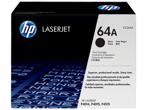 HP 64A ตลับหมึกโทนเนอร์ สีดำ Black Original Toner Cartridge (CC364A)
