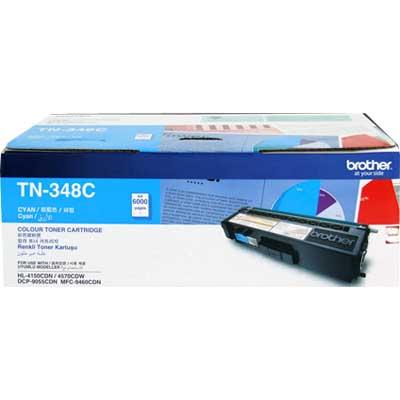 Brother TN-348C ตลับหมึกโทนเนอร์ สีฟ้า ของแท้ Cyan Original Toner Cartridge