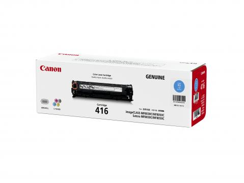 Canon Cartridge-416C ตลับหมึกโทนเนอร์ สีฟ้า Cyan Original Toner Cartridge