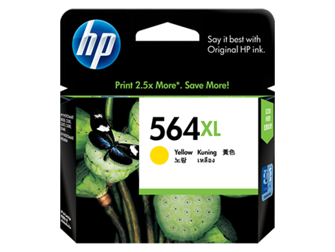 HP 564XL ตลับหมึกอิงค์เจ็ท สีเหลือง High Yield Yellow Original Ink Cartridge (CB325WA)