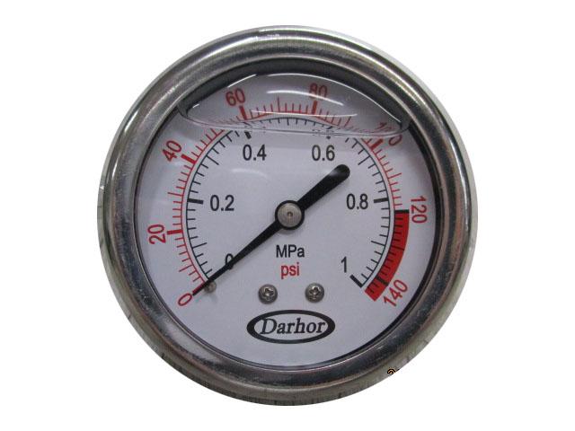 Pressure Guage เกจ์วัดแรงดัน 0-140 PSI Stainless