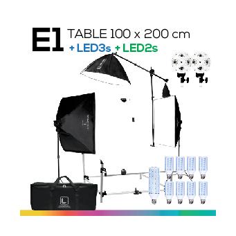 E1 TABLE 100x200 โต๊ะถ่ายภาพสินค้าปรับองศาได้ ถอดประกอบได้