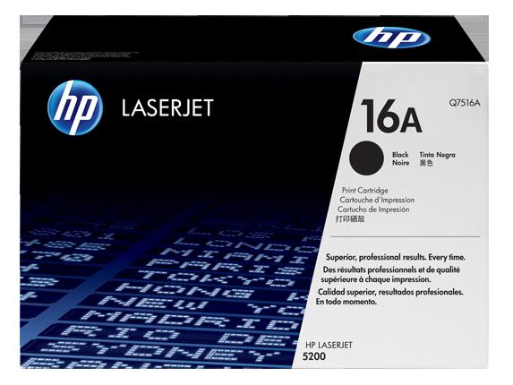 HP 16A ตลับหมึกโทนเนอร์ สีดำ Black Original Toner Cartridge (Q7516A)
