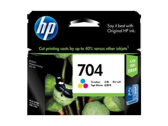 HP 704 ตลับหมึกอิงค์เจ็ท 3สี Tri-color Original Ink Advantage Cartridge (CN693AA)