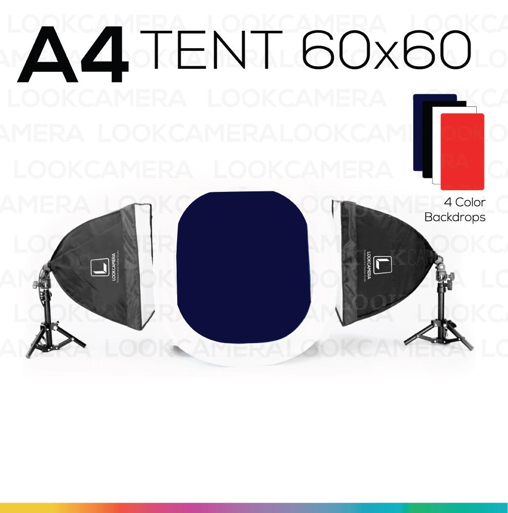 A4 TENT 60x60 ชุดไฟแสงนุ่ม ถ่ายภาพสินค้า เริ่มต้น