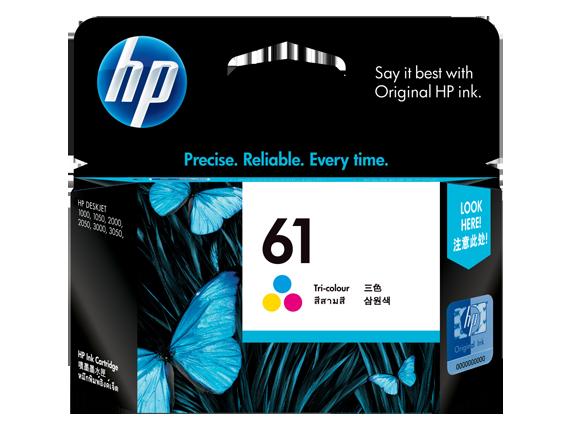 HP 61 ตลับหมึกอิงค์เจ็ท 3สี Tri-Color Original Ink Cartridge (CH562WA)