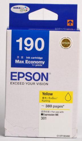 Epson T190490 หมึกพิมพ์อิงค์เจ็ต สีเหลือง Yellow Original Ink Cartridge
