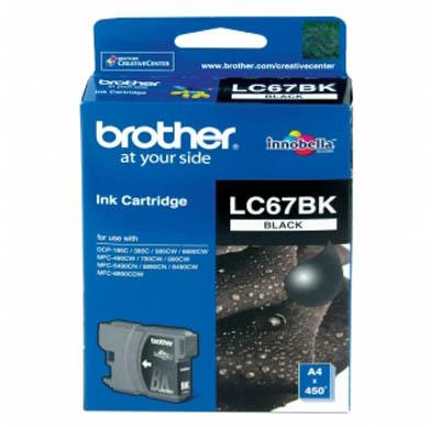Brother LC-67BK ตลับหมึกอิงค์เจ็ท สีดำ Black Original Ink Cartridge (ขนาดมาตรฐาน)