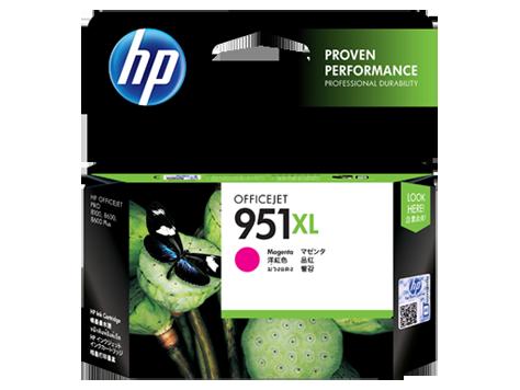 HP 951XL ตลับหมึกอิงค์เจ็ท สีม่วงแดง High Yield Magenta Original Ink Cartridge (CN047AA)
