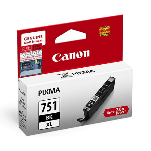 Canon CLI-751XLBK ตลับหมึกอิงค์เจ็ท สีดำ Black Original Ink (High Capacity)