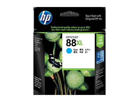 HP 88XL ตลับหมึกอิงค์เจ็ท สีฟ้า High Yield Cyan Original Ink Cartridge (C9391A)