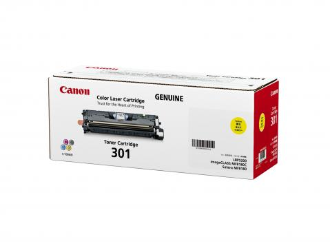 Canon Cartridge-301Y ตลับหมึกโทนเนอร์ สีเหลือง Yellow Toner Original Cartridge