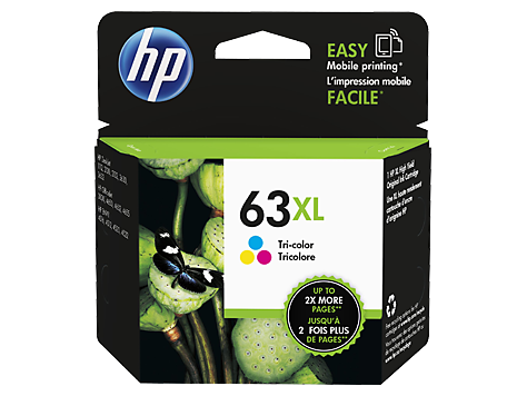 HP 63XL ตลับหมึกอิงค์เจ็ท 3สี High Yield Tri-color Original Ink Cartridge (F6U63AA)