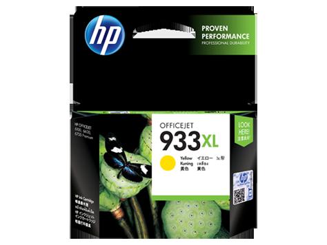 HP 933XL ตลับหมึกอิงค์เจ็ท สีเหลือง High Yield Yellow Original Ink Cartridge (CN056AA)